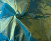 Silk Taffeta in sage green yellow and cyan, Fat qurter-TF45
