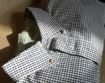 Classic CHECKed shirt, Sage green, black and white