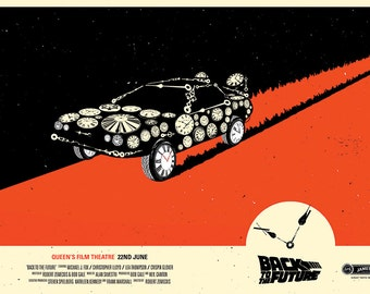 Back to the Future limited edition Film poster print