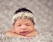 Baby headband, newborn headband, adult headband, child headband and photography prop Penelope sprinkle headband