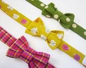 3 Custom Pet Bow Ties- RESERVED