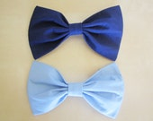 2 Large Bow Hair Clips-RESERVED
