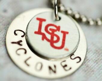 Vintage ISU & Cyclones Charm Necklace