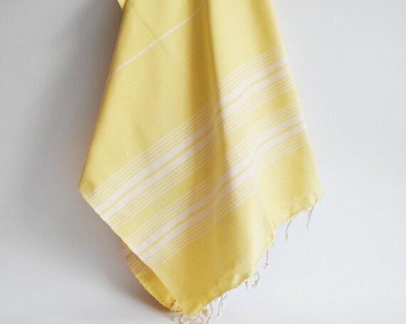 Turkish BATH Towel - Classic Peshtemal - Yellow