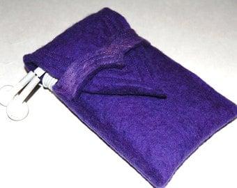 Wool Felt iPhone Case -  ipod Touch Case - Deep Purple Merino Wool Felt