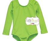 Lime Green Leotard (Child) Long Sleeve Leotard