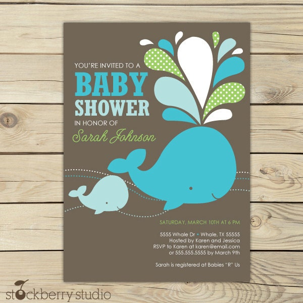 under the sea blue baby shower invitations – frenchkitten, Baby shower invitations