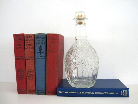 Vintage Decanter Glass Liquor Bottle Christian Brothers Tricentennial Tiffany Barware Decor