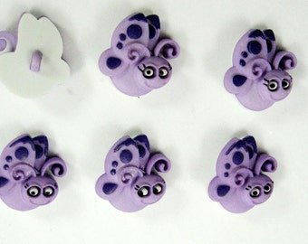 Butterfly Buttons Set of Six
