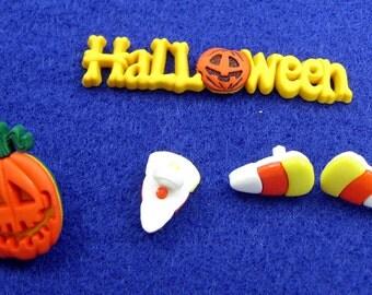 Halloween Buttons Set No. 6
