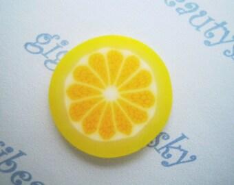 Cute lemon fruit slice cabochon 12pcs 20 mm ---CBSG32A
