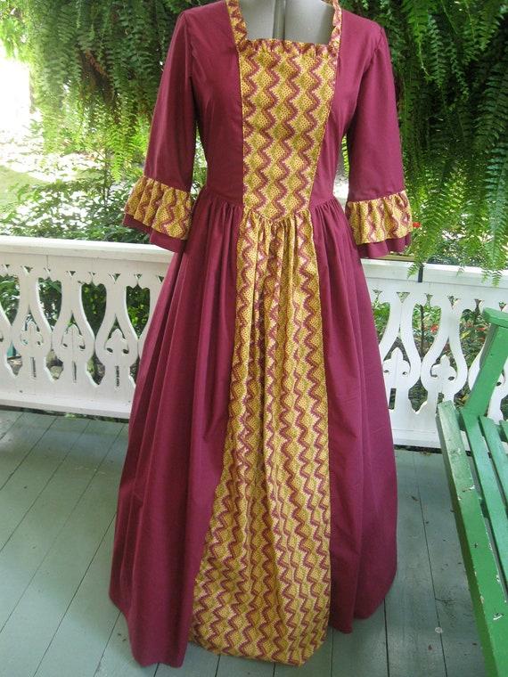 Ships Today - Women's Colonial Costume Dress, Cap & Shawl
