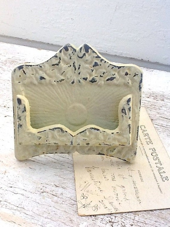 Items similar to rustic chic business card holder antique for Chic business card holder