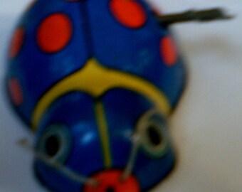 Shackman Vintage Tin Wind Up Beetle, 1950s