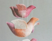 Baby crib mobile - nursery mobile - Birds mobile - UNDER the LOVE TREE - baby gift - pure eco - made to order - Patricija