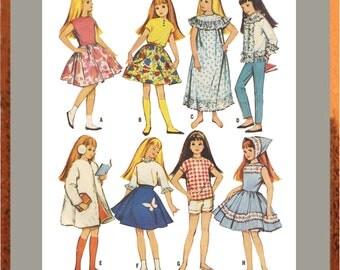 "Digital Download, Vintage McCalls Barbie's Sister Skipper Doll Clothes Pattern For 9"" Doll   No.7716  - PDF instant download"