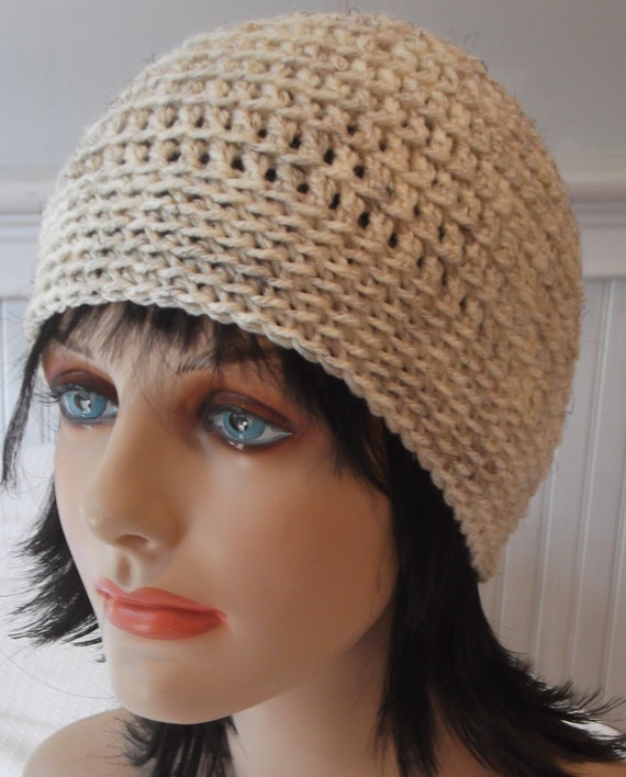 Off WHITE Cream Beanie Skullcap Ski cap Crochet Hat