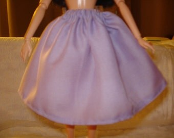 Fashion Doll Coordinates - Lilac purple full skirt- es90