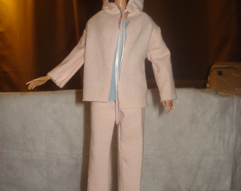 Yoga pants, top and hooded jacket set for Fashion Dolls - ed385
