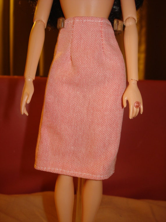 Barbie Doll Separates - A-line skirt in red and white - es31