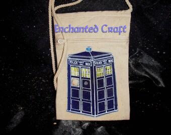 Dr Who TarDis bag, cozy, purse- zippered