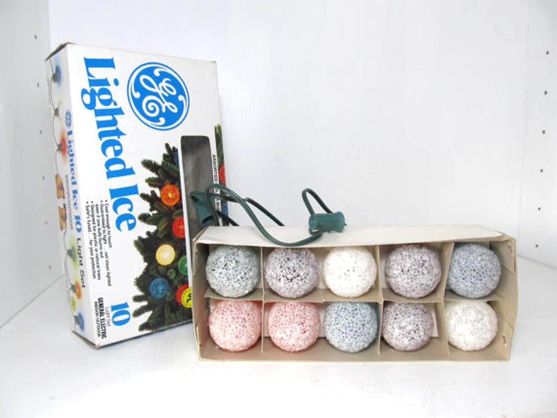 Vintage GE Lighted Ice Christmas Lights