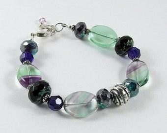 Boho Chic Bracelet Bohemian Jewelry Rustic Silver Bracelet