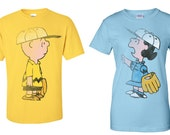 Him and Her Charlie Brown and Lucy Tees