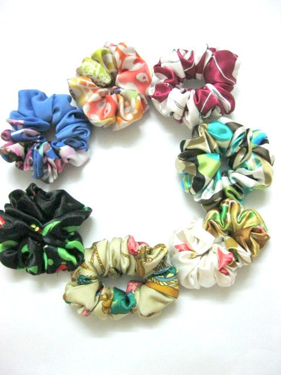 7 Silk Hair Scrunchies