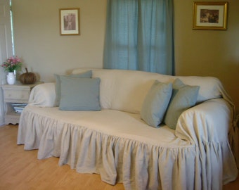 "shabby chic sofa slipcover "" throw """