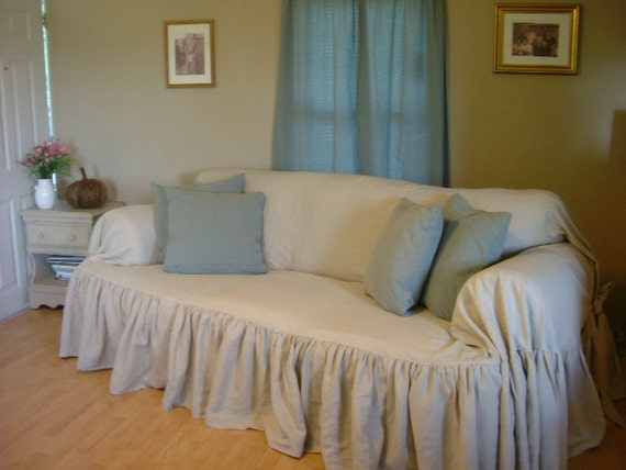 "Items similar to shabby chic sofa slipcover "" throw "" on Etsy"