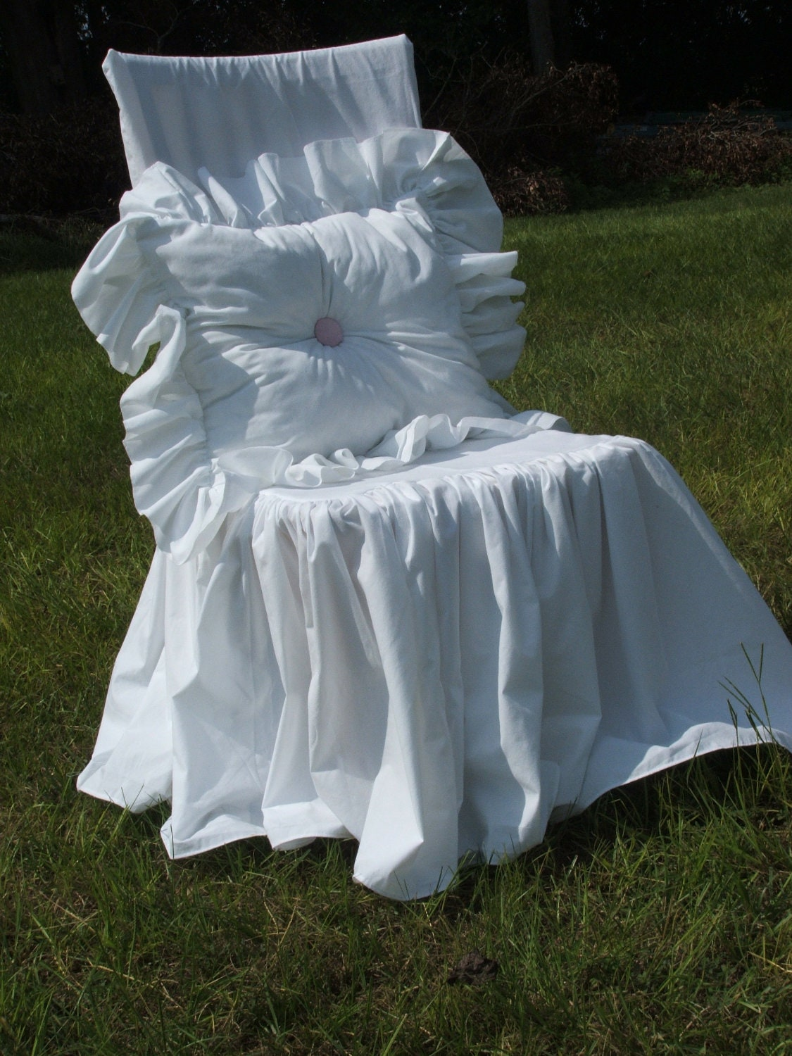 Shabby Chic Chair Slipcover By Mythymecreations On Etsy