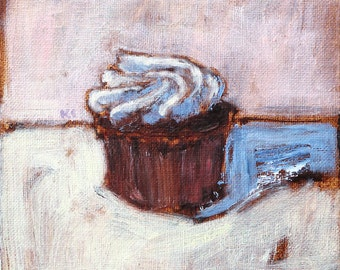 Cupcake Painting- Still Life Original Art
