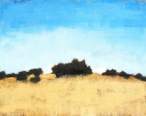 Farm Landscape Painting- Santa Barbara California