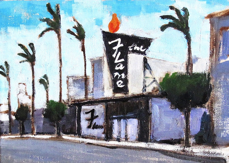 Hillcrest Painting, The Flame, San Diego California Art