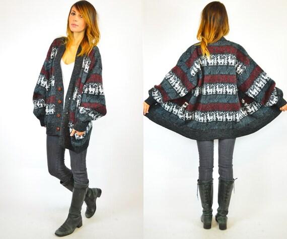 unisex ECUADORIAN alpaca GRANDPA cozy sweater CARDIGAN, extra small-medium
