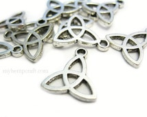 Trinity Triquetra Charms, 12pc Silver Color, 14x16mm Bracelet Charms