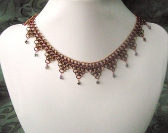 Chainmaille crystal necklace