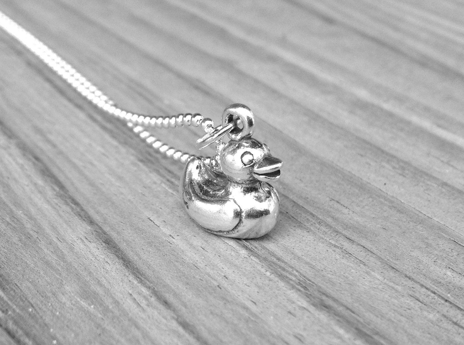 Rubber Duck Necklace Sterling Silver Rubber Duck Necklace