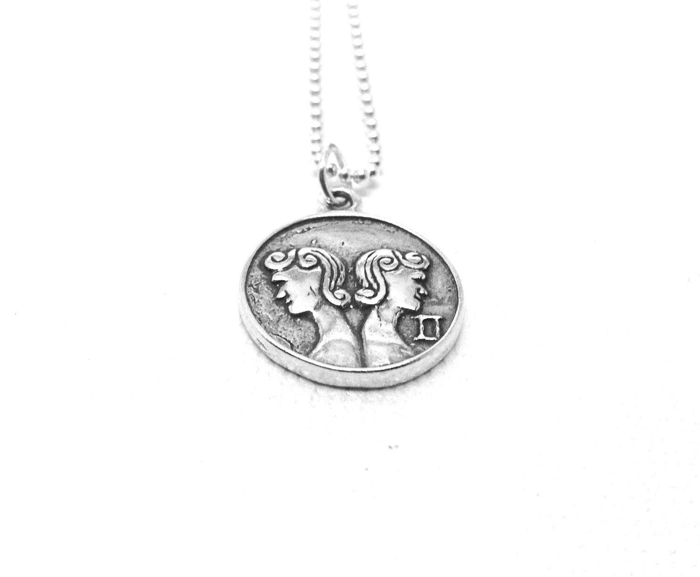 gemini necklace gemini jewelry gemini pendant zodiac