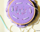 Custom Personalized Lacing Hoop Kids Learn to Stitch