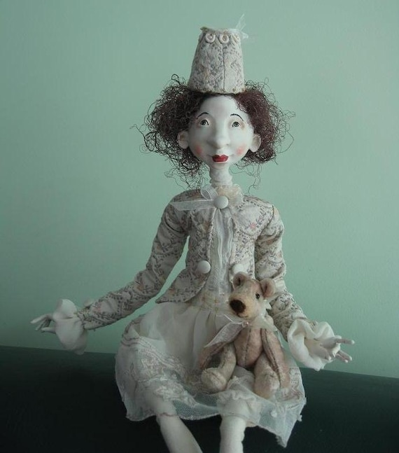 Reserved  for O Rica Art dolls OOAK Paper clay dolls Handmade doll