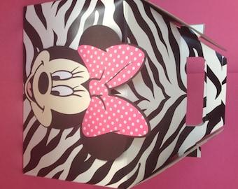 Zebra Print Minnie Mouse Party Favor Boxes - Largei Boxes