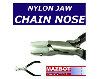 5in Mazbot  Nylon jaw CHAIN NOSE Pliers - NJP04