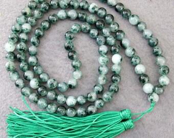 8mm Tibetan Buddhist Stone Meditation Yoga 108 Prayer Beads Mala Beaded Necklace  ZZ099