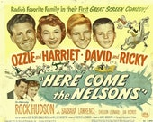 Here Come The Nelsons, Vintage Movie Poster Repro, Ozzie & Harriet, Retro, Nostalgia, Decoupage