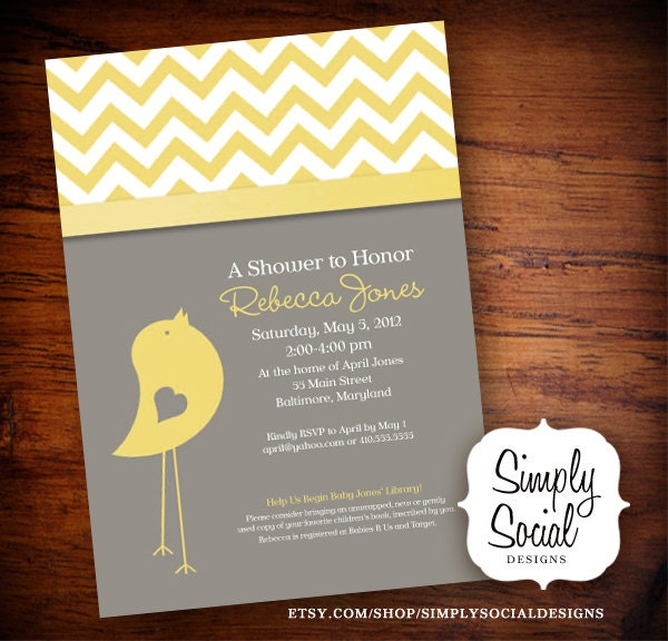 baby bird theme baby shower invitation with by simplysocialdesigns