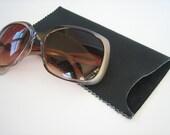 Black Leather Large Sunglasses Case