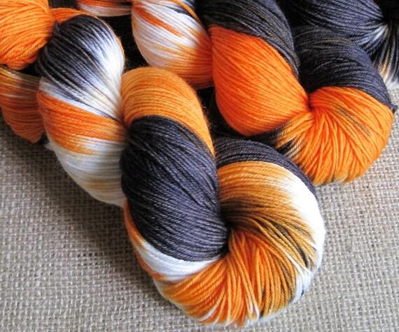 Smell My Feet - SW Merino & Nylon Sock Fingering Yarn - 462 yards - Hand Dyed Halloween Yarn