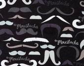 It's a Moustache - Flannel - 1 yard